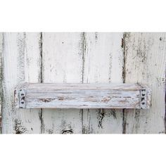 On Rustic Wood Floating Shelf~Farmhouse Shelf Shabby Chic Shelf~Rustic... ($54) ❤ liked on Polyvore featuring home, home decor, small item storage, blue, home & living, home décor, wall décor, spring home decor, blue home decor and rustic wood home decor