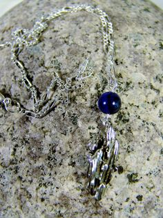Sterling Silver Broom Straw Cast Pendant by UniqueJewelryBySandy