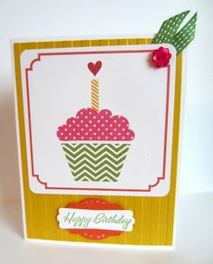 Paper Seedlings #mds #cupcake #hybrid #birthday #cardmaking