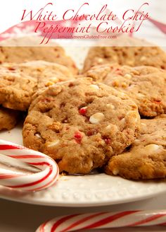 Gluten Free White Chocolate Chip Peppermint Cookie by Janice Amee's Gluten Free
