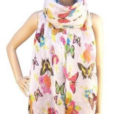 Inspired Jewels Ltd | Classic White Butterfly Scarf