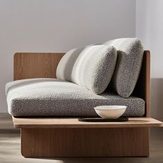 natural, non toxic upholstery for our Muse sofa by Space Copenhagen launching Table Furniture, Furniture Design, Furniture Stores, Furniture Movers, Cheap Furniture, Rustic Furniture, White Wooden Bed, Design Japonais, Sofa Design
