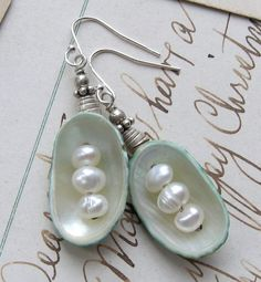 CLEARANCE ~ Sea Podlings/Natural Shell, FWPearls, Sterling Beads | miabellacollection-jewelry - Jewelry on ArtFire