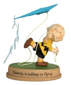 """Peanuts Gallery """"Believing Is Halfway to Flying"""" Charlie Brown Collectible Figurine, http://www.amazon.com/dp/B009Q6A6YE/ref=cm_sw_r_pi_awd_7uhDsb1XSE4JF"""