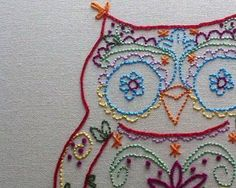 Woodland Owl Hand Embroidery PDF Pattern by lovahandmade on Etsy