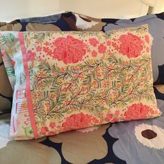 Pillow Case: Bird Cages in Floral Paradise by CaughtRedThreaded on Etsy