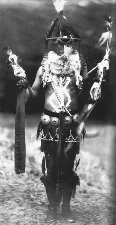 An old photograph of a Navajo Medicine Man