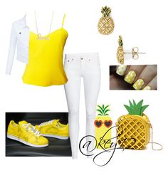"""""""🍍Pineapple Fit🍍"""" by key12 ❤ liked on Polyvore featuring Versus, LE3NO, Charlotte Russe, Sydney Evan and Marc Jacobs"""