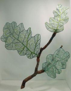 sheer plant no.3  needlework art Ⓒ Nagako Ono HAPPa_Ya #art #plants