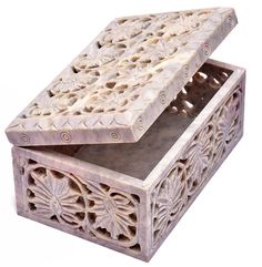 RM Handcrafted Rectangular Soapstone Jewelry with Floral Jali Work (Beige, Inch. Stone Jewelry, Jewelry Box, Jewellery, Marble Box, Marble Stones, Soapstone, Storage Boxes, Traditional Design, Trinket Boxes
