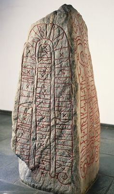 Viking runestone. (Photo By DEA/G DAGLI ORTI/De Agostini/Getty Images)