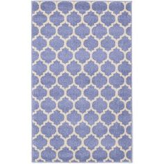 "Charlton Home Moore Light Blue Area Rug Rug Size: 3'3"" x 5'3"""