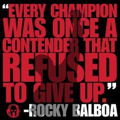 Spartan Rocky Balboa quote