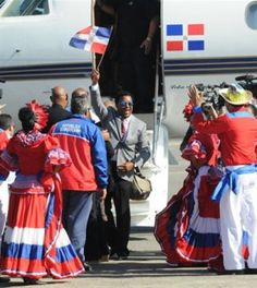 Recibimiento gramdioso a Pedro Martinez en Santo Domingo, República Dominicana.