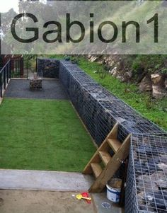 gabion rock retaining wall