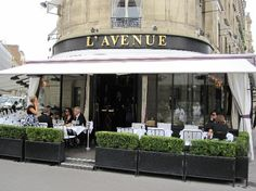 L'Avenue, Paris, France  Wonderful, fun people watching, in amazing location.  Met my great friend Claude Petin, the fashion designer here.  Go, Enjoy, I have been many times...