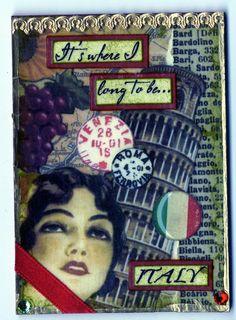 Artfully Musing: Travel Themed ATCs by Gina Peake