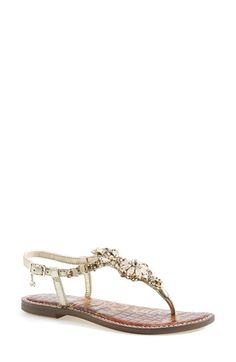 Embellished sandals for beach weddings