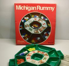 Vintage Michigan Rummy Game - COMPLETE by vintagetoolbox on Etsy