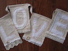 LOVE banner/bunting