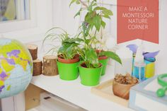 Make a Montessori Nature Corner from DIY Corporate Mom