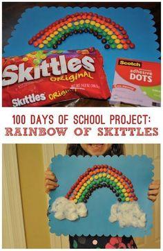 100 Days of School Project: Rainbow of Skittles! - Classy Mommy 100 Days of School Project Rainbow of Skittles 100 Days of School Project: Rainbow of Skittles! - Classy Mommy 100 Days of School Project Rainbow of Skittles 100 Day Project Ideas, 100 Day Of School Project, School Projects, School Ideas, Kindergarten Shirts, Kindergarten Projects, Diy Crafts Step By Step, Easy Diy Crafts, Kid Crafts