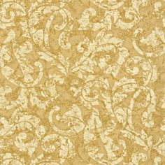 Ardmore Scroll #wallpaper in #metallic on #gold from the River Road collection. #Thibaut
