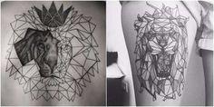 Diseños de tatuajes de leones que sólo los valientes y de espíritu fuerte querrán hacerse - Diseño