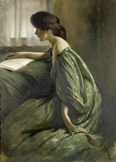 """A Quiet Hour"", ca. 1901, by John White Alexander (American, 1856-1915)"