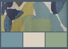 Stiffkey Blue Colour Palette Design with green and cream. See more on the blog.
