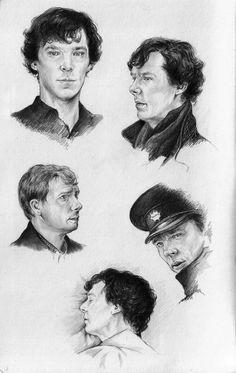 Sherlock - Sketches by naturalshocks.deviantart.com on @deviantART   <------NICE.