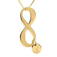 24K Gold Plated Initial Infinity Necklace