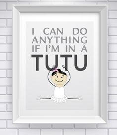 Tutu Power! How cute for a kids room? .....or my room..