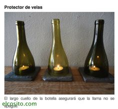 botellas cortadas