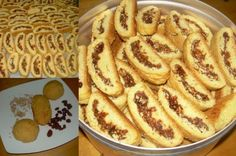 Greek Sweets, Greek Desserts, Greek Recipes, Vegan Recipes, Cooking Recipes, Biscotti Cookies, Cake Cookies, Greek Cookies, Sweets Recipes