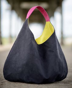 BIG series - XXL packable Hobbo Bag made of alcantara.