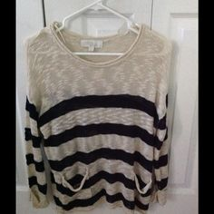 Nautical striped sweater from Olive & Oak Beautiful sweater, worn twice at most! Olive & Oak Sweaters