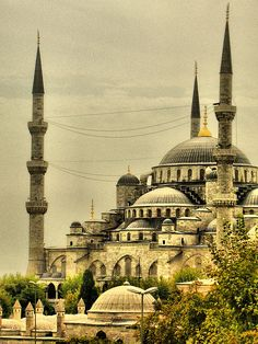 Istanbul's historical mosque is called the Blue Mosque by foreign visitors because of its interior tiles. Construction work began on this masterpiece  in 1609 and took seven years to complete. The mosque is such a popular attraction that admission is controlled so as to preserve its sacred atmosphere.
