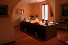 Our lovely kitchen.. Monterinaldi in Tuscany