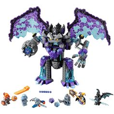 Lepin 14036 Knight Stone Colossus Of Ultimate Destruction Model Building Blocks Assemble Bricks DIY Toys Nexus Compatible 70356 Lego Knights, All Lego, Stone Statues, Building Blocks Toys, Lego Storage, Model Building, Lego Sets, Destruction, Gifts For Kids