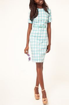 Lovely (gingham) dress (minus the shoes)