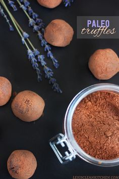 The BEST Paleo #GF #DairyFree #NutFree Chocolate Truffles from Lexi's Clean Kitchen