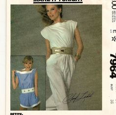 McCall's 7964, A Sleeveless, Bateau Neckline, Buttoned Shoulder, Short or Long Jumpsuit Pattern for Women by So Sew Some!