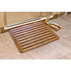 Style meets functionality with this luxurious bamboo bath mat by Seville Classics. Featuring a waterproof surface, this bath mats design ensures efficient water and air circulation. The nonskid feature provides stability and safety. Bathroom Safety, Bathroom Storage, Bathroom Ideas, Mat Best, Bamboo Care, Bamboo Bathroom, Room Of One's Own, Bath Mat Design, Nautical Bathrooms
