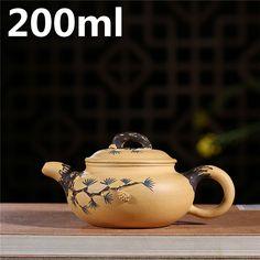 Yixing zisha ore section of Nisong needle Antique Handmade teapot pot Yixing Teapot, Chinese Tea, Ceramic Teapots, Kettle, Bar, Ceramics, Tea Sets, Handmade Ceramic, Dining