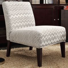 INSPIRE Q Peterson Grey Chevron Slipper Chair - Overstock™ Shopping - Great Deals on INSPIRE Q Living Room Chairs