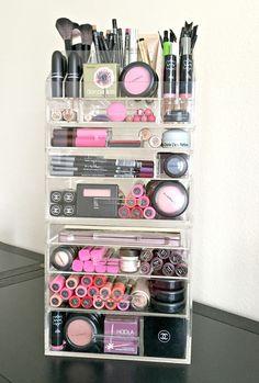 Acrylic Makeup Organizer Large 7 Drawer plus Storage Modular Tray