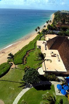 """The Royal Lahania - Maui, Hawaii""...seriously looking down at the ocean front lawn in front of my office...I am so blessed!!!!!!!!"