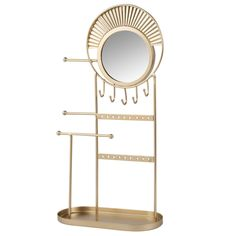 Gold Metal Jewellery Stand on Maisons du Monde. Jewelry Stand, Metal Jewelry, Mirror, Gold, Inspiration, Furniture, Home Decor, Dj, Dining Room
