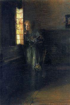 "Lady Laura Teresa Alma-Tadema (1852-1909) Love's Curse Oil on panel 33.02 x 22.542 cm (13"" x 8.87"")"